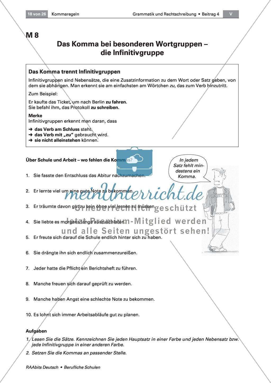 Kommaregeln: Komma bei Nebensätzen Preview 3