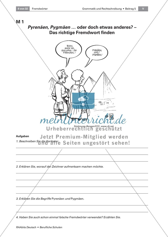 Umgang mit Fremdwörtern: Bedeutung, Schreibweise und Merkmale von Fremdwörtern erkennen Preview 0