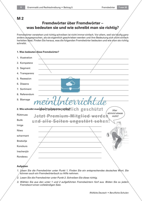 Umgang mit Fremdwörtern: Bedeutung, Schreibweise und Merkmale von Fremdwörtern erkennen Preview 1