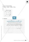 Klassenarbeit zur Berechnung von Oberflächen und Volumen eines Eiswürfels und Pflastersteinen Preview 3