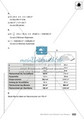 Klassenarbeit zur Berechnung von Oberflächen und Volumen eines Eiswürfels und Pflastersteinen Preview 5