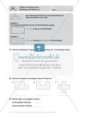 Umfang und Fläche von geometrischen Formen auf Kästchenpapier Preview 1