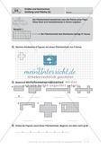 Umfang und Fläche von geometrischen Formen auf Kästchenpapier Preview 2