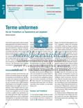 Terme umformen Preview 1
