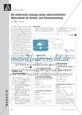 Die elektrische Leistung zweier unterschiedlicher Widerstände bei Reihen- und Parallelschaltung Preview 1
