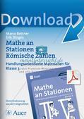 Mathe an Stationen: Römische Zahlen Preview 1