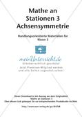 Mathe an Stationen: Achsensymmetrie Preview 2