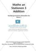 Mathe an Stationen: Addition Preview 2