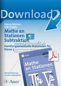 Mathe an Stationen: Subtraktion Preview 1
