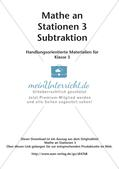 Mathe an Stationen: Subtraktion Preview 2