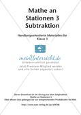 Mathe an Stationen: Subtraktion Preview 2