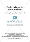 Collagen aus vorgefertigtem Papier: Gemeinschaftsarbeit und Plakat Preview 2