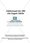 Zahlenraum bis 100 mit Seguin-Tafeln Preview 2