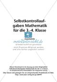 Selbstkontrollaufgaben - Geometrie Preview 2