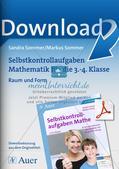 Selbstkontrollaufgaben Mathematik - Raum und Form Preview 1