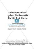 Selbstkontrollaufgaben Mathematik - Gemischte Übungen Preview 2