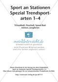 Sport an Stationen - Tchoukball, Floorball, Speed Badminton, Jonglieren Preview 2
