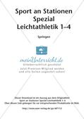 Sport an Stationen - Leichtathletik - Springen Preview 2