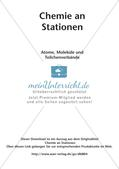Arbeitsblätter und Schülerexperiment zu Atomen und Molekülen Preview 2