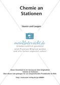 Arbeitsblätter und Schülerexperiment zu Säuren und Laugen Preview 2