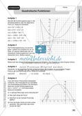 Stationenlernen Mathematik: Quadratische Funktionen Preview 17