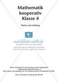 Mathematik kooperativ: Fläche und Umfang Preview 2