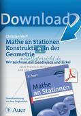 Geometrie an Stationen: Geodreieck und Zirkel Preview 1