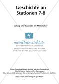Stationenarbeit: Alltag und Glauben im Mittelalter Preview 2