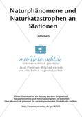 Naturphänomene und Naturkatastrophen an Stationen: Erdbeben Preview 2