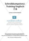 Schreibkompetenz-Training: Writing recommendations Preview 2