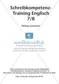 Schreibkompetenz-Training: Writing summaries Preview 2