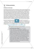 Schreibkompetenz-Training: Writing summaries Preview 3