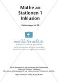 Mathe an Stationen - Inklusion: Zahlenraum bis 20 Preview 2