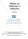 Mathe an Stationen - Inklusion: Subtraktion Preview 2