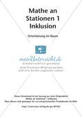 Mathe an Stationen - Inklusion: Orientierung im Raum Preview 2