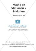 Mathe an Stationen - Inklusion: Zahlenraum bis 100 Preview 2