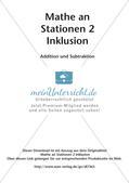 Mathe an Stationen - Inklusion: Addition und Subtraktion Preview 2