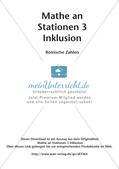 Mathe an Stationen - Inklusion: Römische Zahlen Preview 2