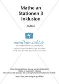 Mathe an Stationen - Inklusion: Addition Preview 2