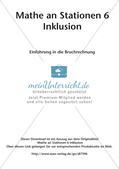 Mathe an Stationen - Inklusion: Einführung in die Bruchrechnung Preview 2