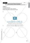 Mathe an Stationen - Inklusion: Einführung in die Bruchrechnung Preview 5