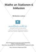 Mathe an Stationen - Inklusion: Mit Brüchen rechnen Preview 2