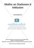 Mathe an Stationen - Inklusion: Dezimalbrüche Preview 2