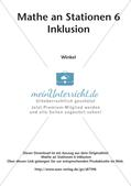 Mathe an Stationen - Inklusion: Winkel Preview 2