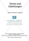 Mathe an Stationen - Inklusion: Terme und Gleichungen Preview 2