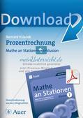 Mathe an Stationen - Inklusion: Prozentrechnung Preview 1