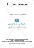 Mathe an Stationen - Inklusion: Prozentrechnung Preview 2