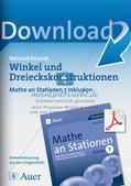 Mathe an Stationen - Inklusion: Winkel und Dreieckskonstruktionen Preview 1