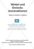 Mathe an Stationen - Inklusion: Winkel und Dreieckskonstruktionen Preview 2