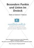 Mathe an Stationen - Inklusion: Besondere Punkte und Linien im Dreieck Preview 2